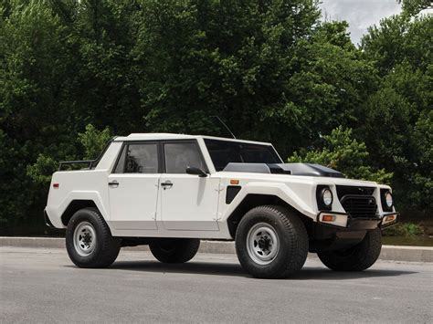 Special White Lamborghini LM002 to be Sold - GTspirit