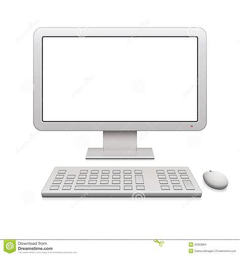 ordinateur de bureau blanc ordinateur de bureau moderne images stock image 22303854
