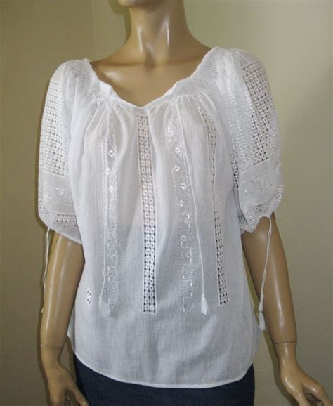 embroidered peasant blouse embroidered peasant blouse white chamomile