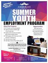 Teen summer job programs