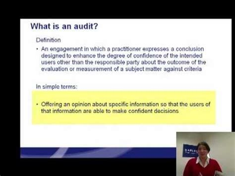 What Is An Audit Masterclass By Kaplan  Youtube