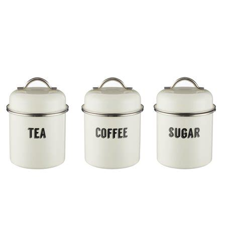 Retro Kitchen Canisters Set by Typhoon Retro Kitchen Canisters Set Of 3 Walmart