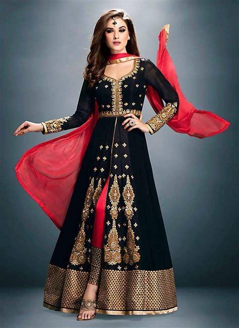 buy black georgette embroidered semi stitched salwar