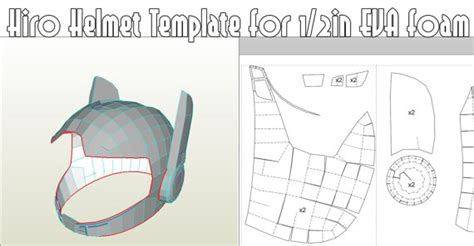 helm template hiro helmet template foam