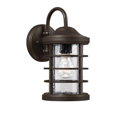 sea gull lighting sauganash 1 light outdoor antique bronze