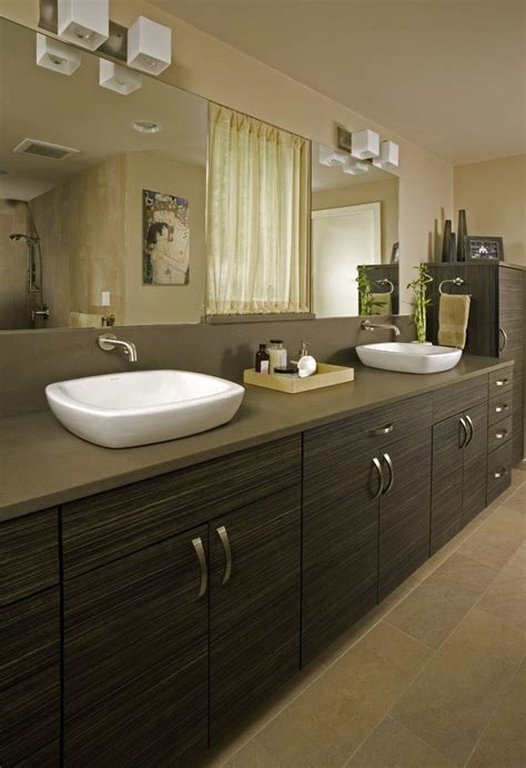 beach style vessel sinks powder room contemporary with