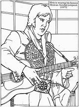 Elvis Coloring Pages Presley Rock Roll Colouring Printable Books Adult Memphis Music Sheets Print King Rockabilly Graceland Suit August Country sketch template