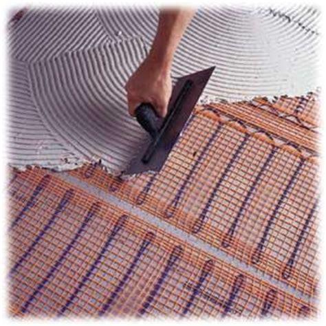 installing radiant floor heat