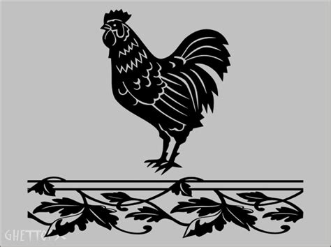 rooster wall decal kitchen ebay