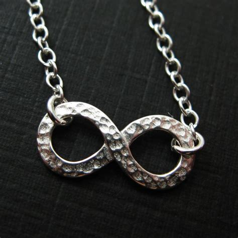 sterling silver jewelry set hammered infinity charm