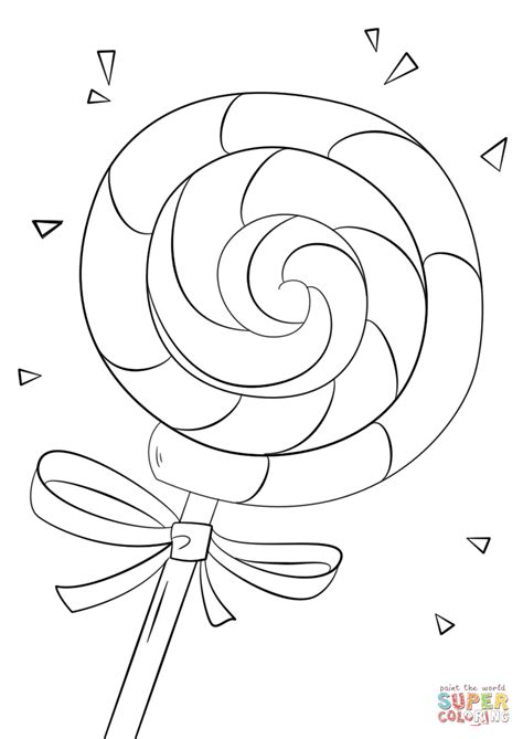 Lollipop Coloring Pages Printable
