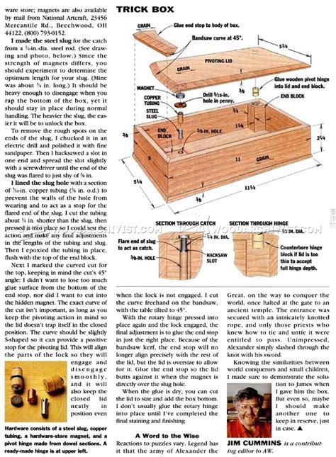 trick box plans woodarchivist
