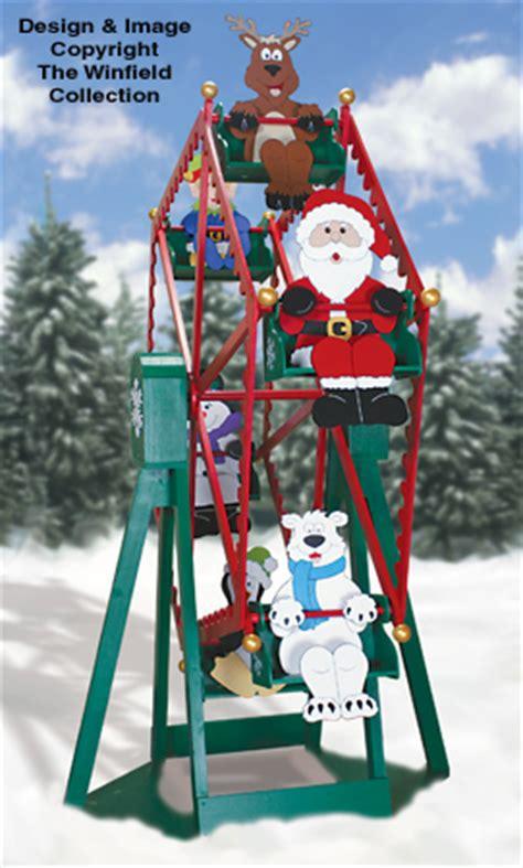 plans  build christmas ferris wheel lawn decoration