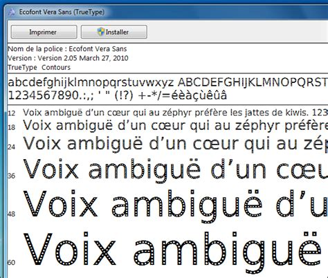 imprimantes installer une de caractères