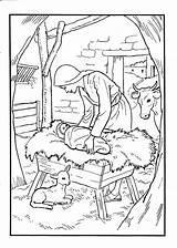 Jesus Birth Coloring Pages Printable Crafts Christmas Sunday Bible Nativity Testament Try sketch template