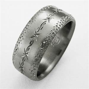 dixon 4 titanium ring with barbed wire titanium wedding With barb wire wedding rings