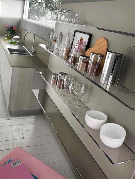etageres de cuisine étagères de cuisine en verre design monprojetcuisine fr