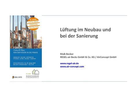 Bundesverband Altbauerneuerung by L 252 Ftung Im Neubau Und Bei Der Sanierung Bau 2019