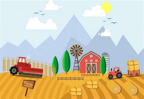 farming work drawing farmer hens eggs icons  vector