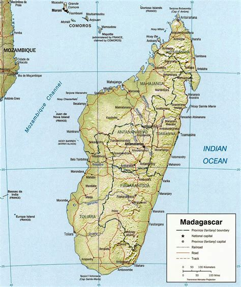 Carte de Madagascar.
