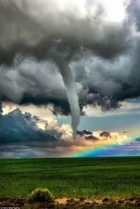 Storm Chaser Jason Blum Photographs Tornado Next To A