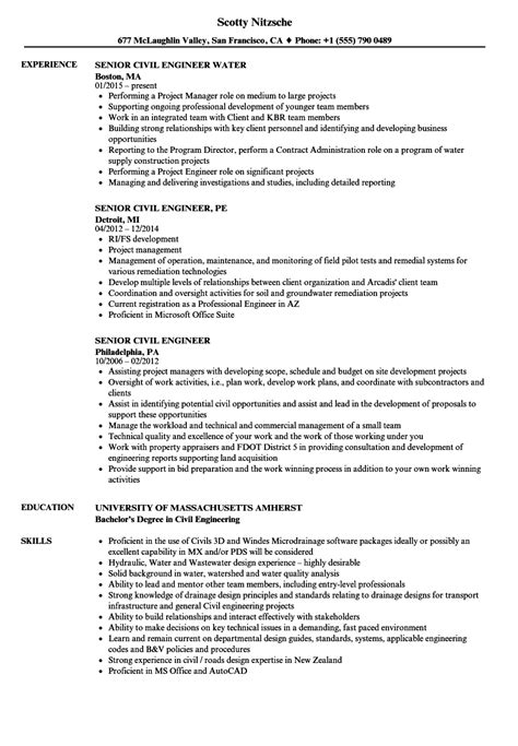 Check the job description and our example civil engineering resume samples to. Senior Civil Engineer Resume Sample Pdf - BEST RESUME EXAMPLES