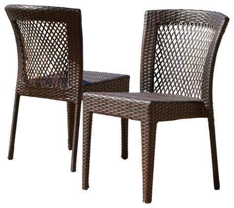 point outdoor wicker chairs set of 2 tropical