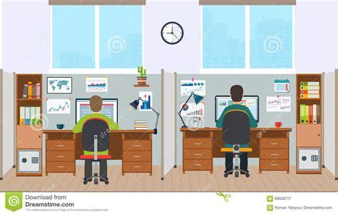 emploi bureau de poste poste de travail intérieur de bureau avec des employés