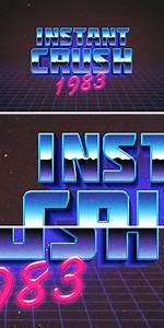 80s, Retro, Typography, Effect