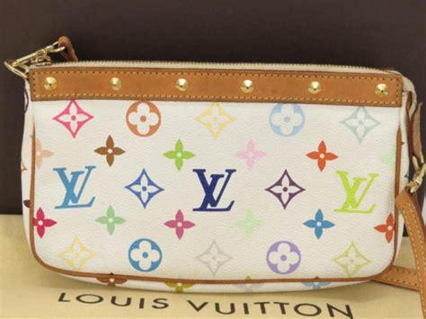 louis vuitton pochette accessoires monogram multicolor  long strap  wh  stdibs