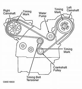 1998 Acura 3 5rl Serpentine Belt Routing And Timing Belt Diagrams