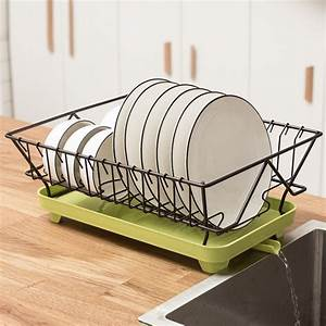 Kitchen, Dish, Drainer, Rack, Counter, Top, Drying, Dish, Rack, For, Plate, Bowl, Spoon, Cutlery, Tray