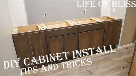 diy   install base kitchen cabinets basement bar