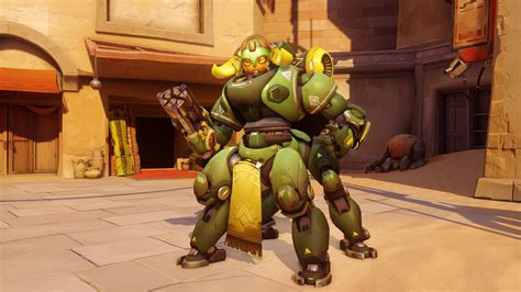 overwatch s new character is a robot named orisa gamespot