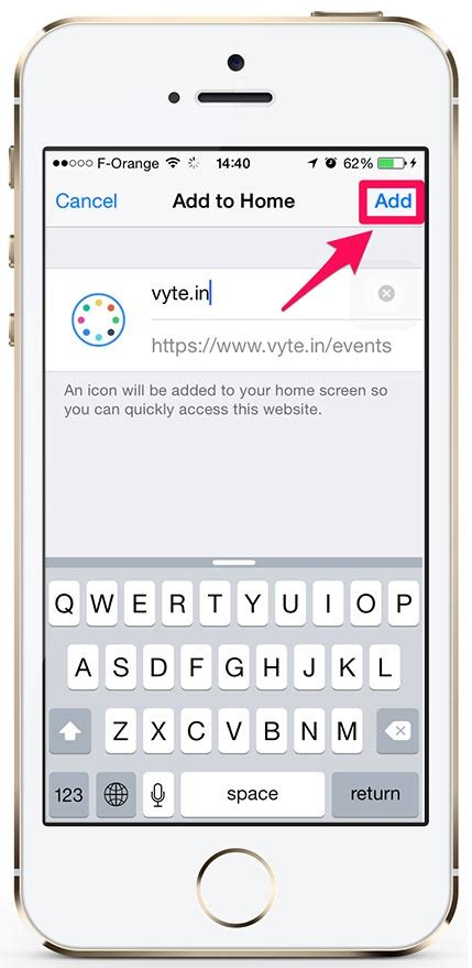 iphone add on iphone how to add vyte in to your homescreen vyte