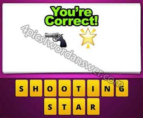 guess  emoji gun  star  pics  word game answers