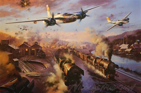 invader invader   attack bomber ww painting