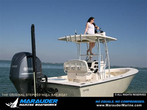 Stepped Hull Fishing Boat by Great Photo Of A Custom Bay Fishing Boat Marauder Marine