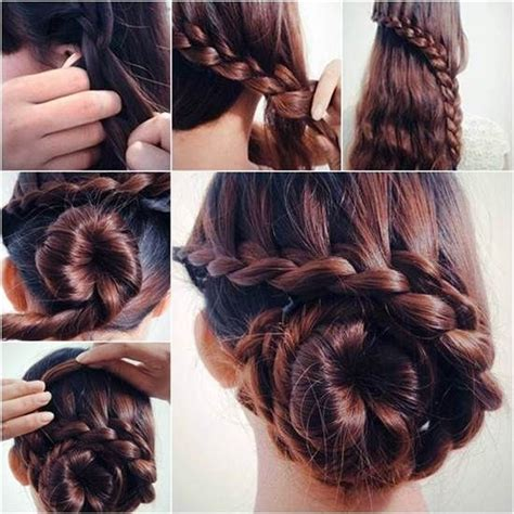 diy braided bun hairstyle pictures photos and images for