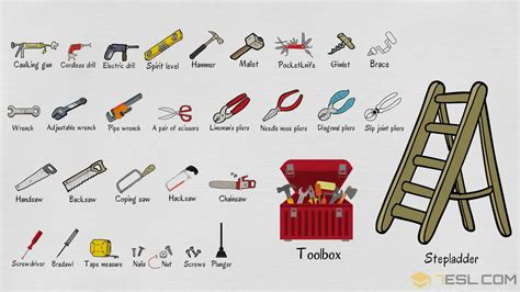 tools names  list  tools  english  pictures