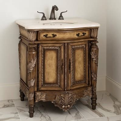 "Martinique 42"" Antique Single Sink Bathroom Vanity Chest"