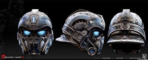 Clay Carmine Helmet Gears Of War