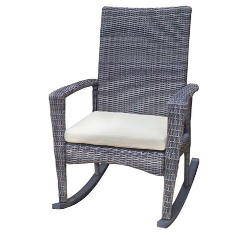tortuga outdoor bayview rocking chair wicker lounge