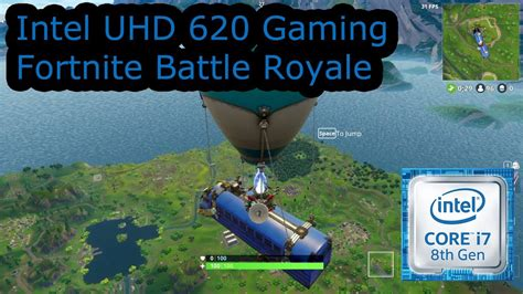 fortnite intel intel uhd 620 gaming fortnite battle royale i5 8250u