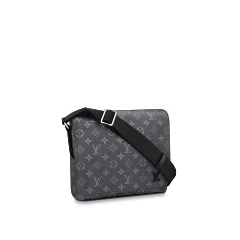 district pm monogram eclipse canvas mens bags louis