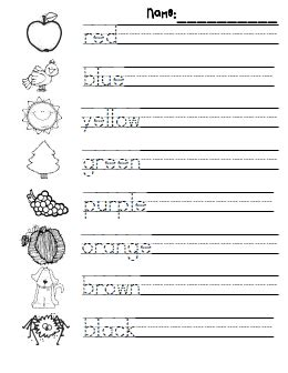 color practicepdf google drive kindergarten writing