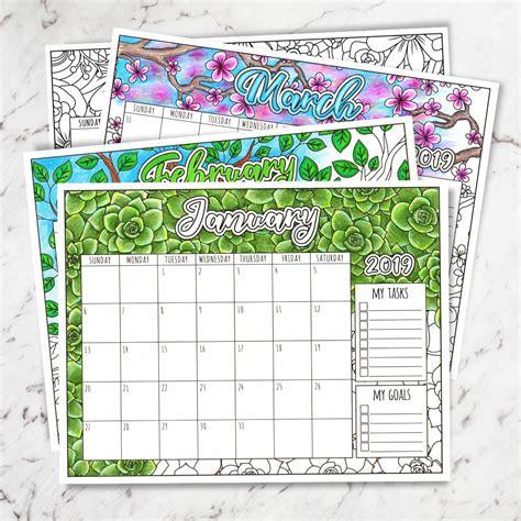 printable coloring calendar sarah renae clark