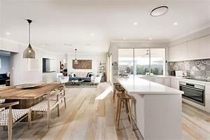 design interieur agreable et moderne pour cette jolie With salle À manger contemporaine avec cuisine aménagée en u