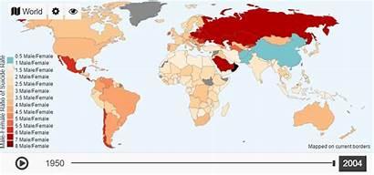 Suicide Rates Death Ratio Male Female 1950