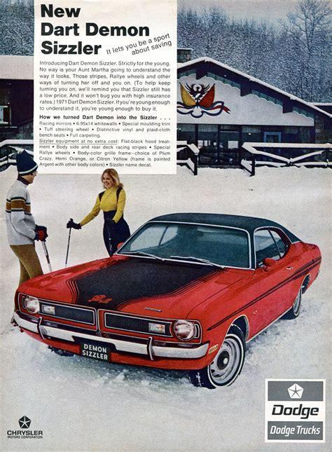 Chrysler Advertising by 1971 Dodge Dart Chrysler Advertising Rod